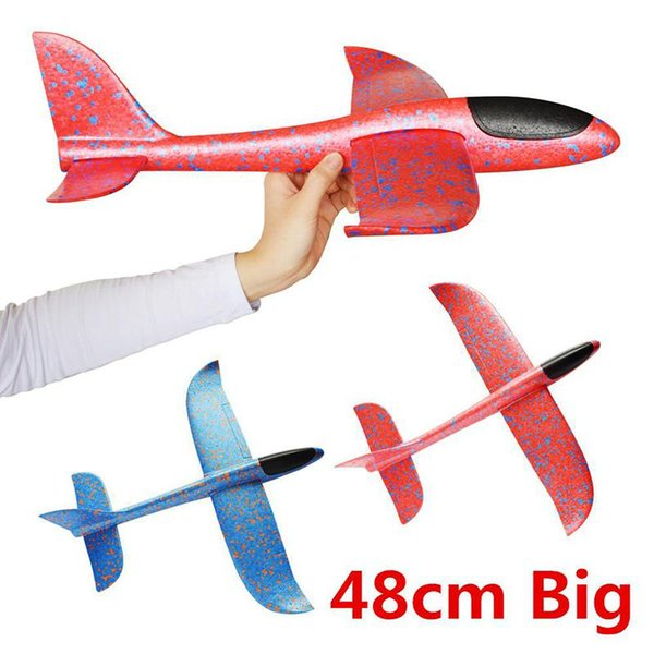 Hand Launch Throwing Glider Palne Inertia Foam Aircraft Toys Aircraft Model For Children Outdoor Educational Toy Random Color Novelty Toys