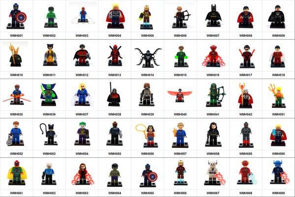 wholesale 600+ Building Blocks Super Hero Figures Captain Iron man Black widow ThanosToys The Avengers Toys Joker Toys mini Action Figure