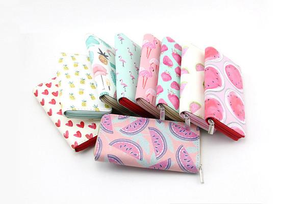 Fruit design enfants PU portefeuille fraise ananas pastèque Flamingo enfants fille bourse étudiants cadeaux en gros prix usine