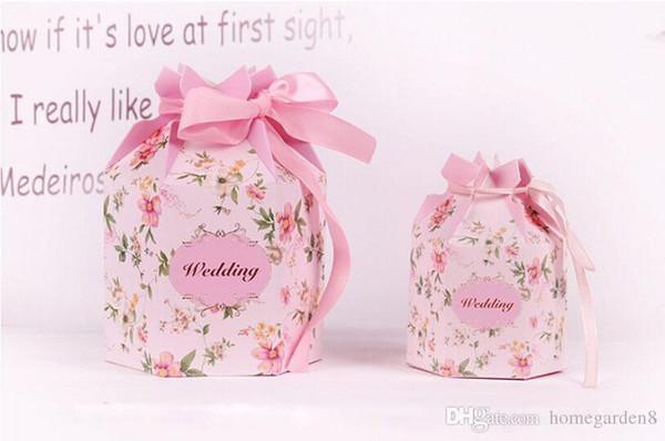 caixa de doces Hexagon caixa de doces de casamento Europeia embalagem fontes do partido atividade criativa casamento doces casamento fornecimentos saco do presente