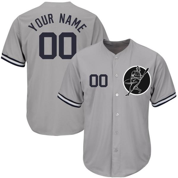 Personalizado Mens Baseball Jerseys Qualquer Nome Qualquer Número Bordado Costurado Camisas Personalizadas Personalizado Loja Online Barato B025