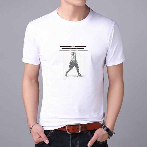 Мужская футболка с короткими рукавами и принтом Letter Slim Slim Color Color Large