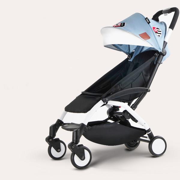Moda portátil carrinho de bebê original Poussette Kinderwagen leve dobrável crianças carrinho de bebé, pode ser levado ao avião