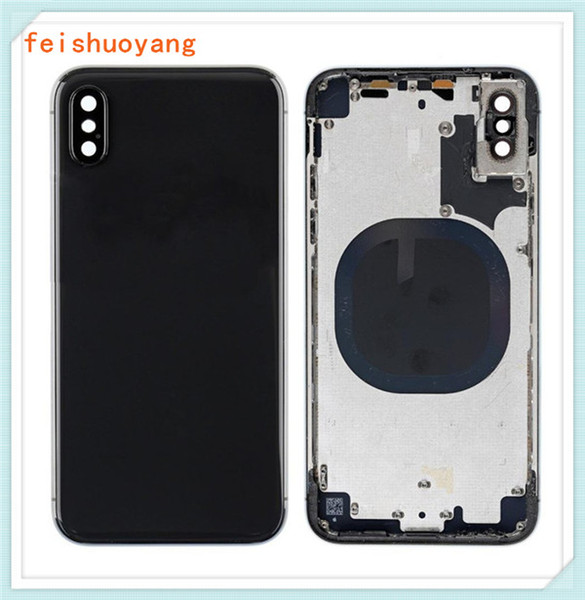 reputable site 01a7c c53b7 2019 For IPhone X Back Battery Cover Back Glass + Logo + Adhesive Rear Door  Panel Glass Housing Case Repair Replacement Part For IphoneX From ...