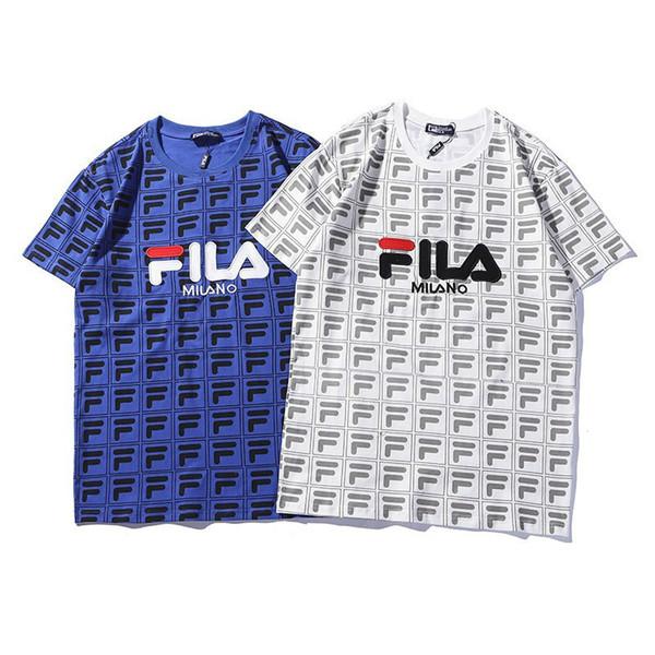 T-shirts pour hommes lettre imprimée nouveau T-shirt à manches courtes col rond noir blanc T-shirt classique