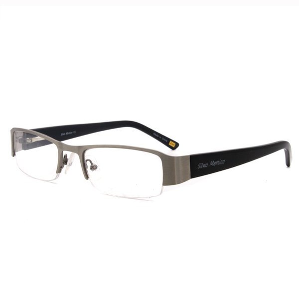 Classics Half rim Eyewear Glasses Metal Rectangle Optical Acetate Temples Design Wholesale Price Free Shipping SM4020
