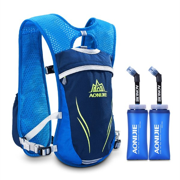 AONIJIE Hydration Pack Men Women Running Vest Outdoor Bags Water Bladder Bag with Tow BPA Free Soft Water Bottle Sports Backpack #263448