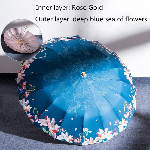 A flor azul exterior