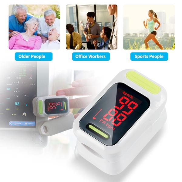 Yonker Pulsossimetro Pulsossimetro portatile medico Saturazione di ossigeno nel sangue Monitor con cordino CE Prodotti certificati FDA di alta qualità LED