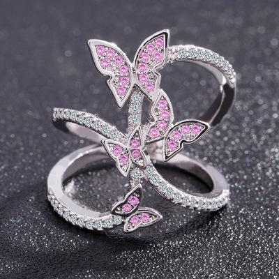 Butterfly split leg ring