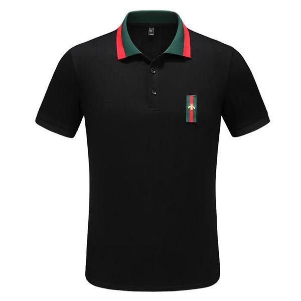 Italienne luxe printemps T-shirt T-shirt de marque Polo haut broderie rue Couleuvre petite abeille imprimer la marque des hommes de vêtements Polo shirtGG