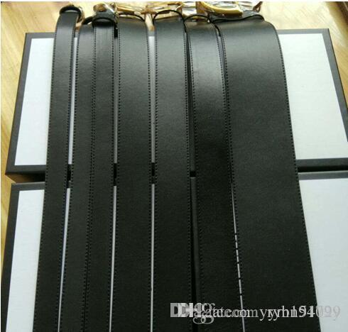 CALIENTE cinturón de estilo clásico 2.0 / 3.4 / 3.8 / 7.0 cm de ancho con hebilla de alfabeto doble de 5 COLORES cuadro real 105-125 cm BUENA CALIDAD como regalo
