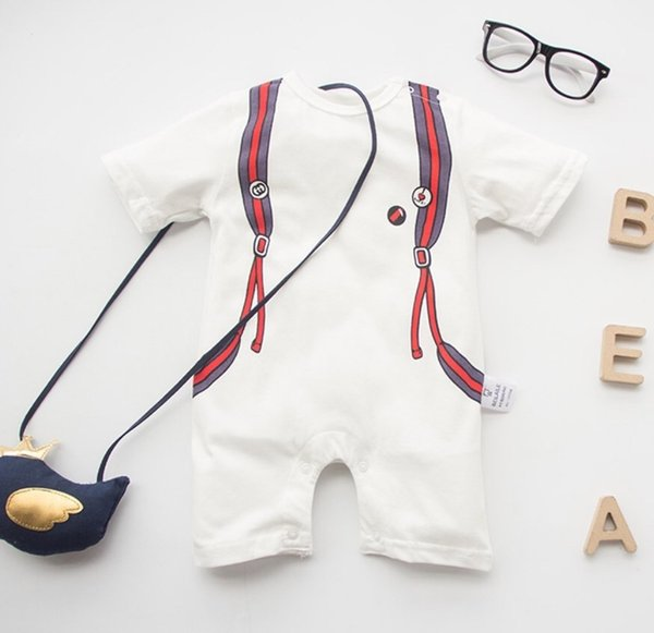 2019 New Baby Summer Romper Boy Girl Clothes One-piece Jumpsuit Brand Costume Toddler Suit Infant Christmas Clothing Bebes M&m Y19061201