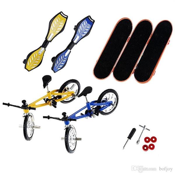 Lega Professionale pattino della barretta della bicicletta Skateboard Imposta stent cuscinetto ruota Tastiera novità giocattoli per bambini Finger Giocattoli