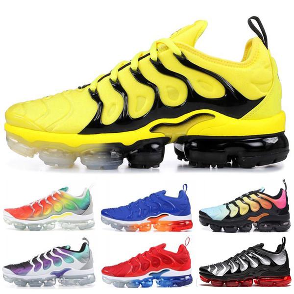 2019 Радуга Новый TN Plus SHERBET Кроссовки Женские Мужские Ботинки Спортивный Пакет Тройной Черный ТРАЙП мода роскошные мужские женские дизайнерские сандалии обувь