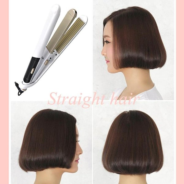 2 en 1 Curling cheveux électrique redressage Fer plat coiffure Styling Outils pour une machine polyvalente Modélisation pratique