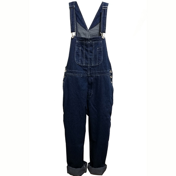 Hot 2018 Men's Plus Size 28-44 46 48 50 Overalls Large Size Huge Denim Bib Pants Fashion Pocket Jumpsuits Male Brand