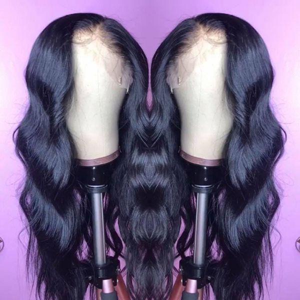원시 인도 버진 인간의 머리 레이스 앞 가발 바디 웨이브 13x6 레이스 정면 가발 인도 바디 웨이브 전체 레이스 인간의 머리 가발