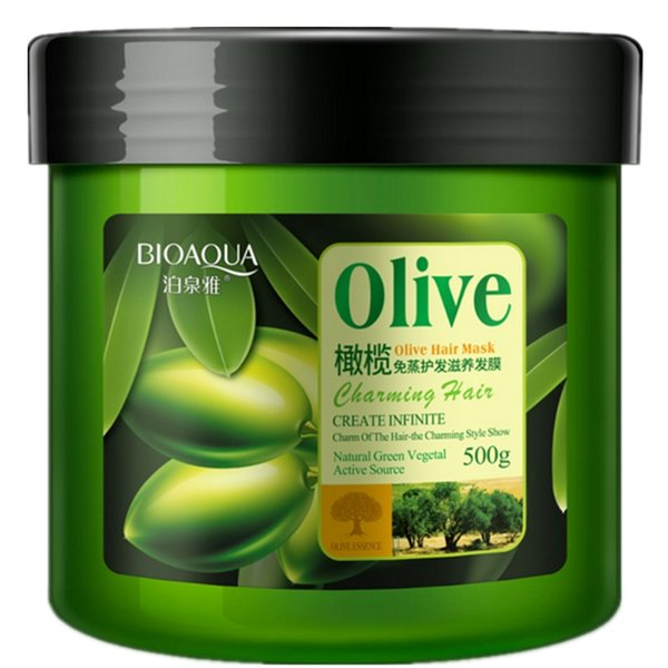 500ml Olive Oil No Need Steam Hair Mask Repair Frizzled Supple Split Ends Dry Conditioner Hair Treament Keratin For Hair Care.