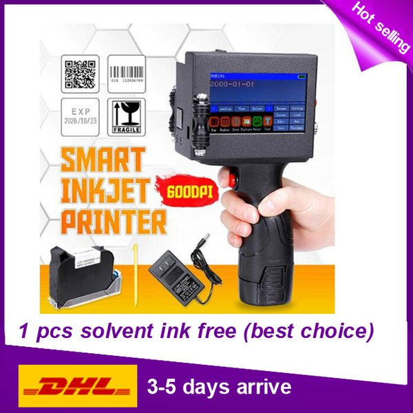 Touch Screen 600DPI Handheld Intelligent QR Inkjet Printer USB 360T Ink Date Coder Coding machine solvent ink cartridge