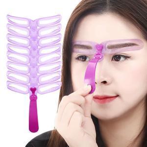 8 unids / set Plantillas de Cejas Conformación de Maquillaje Cejas Maquillaje Modelo de Plantilla Reutilizable Eyebrow shaper Definir Plantillas de maquillaje herramientas RRA160