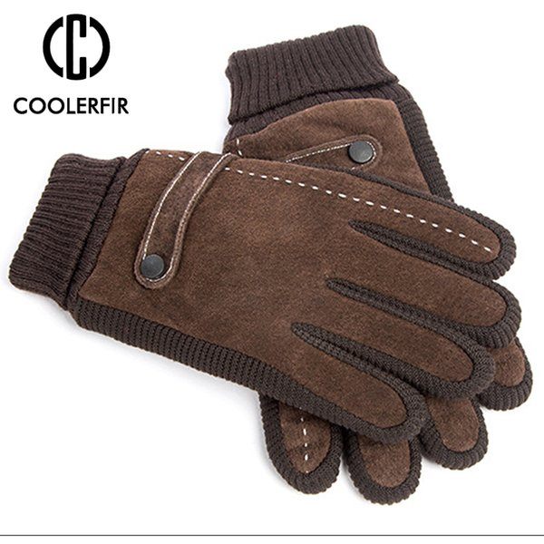 Touch Screen Winter Warm Men's Gloves Genuine Leather Casual Gloves Mittens for Men Outdoor Sport Full Finger Glove ST030