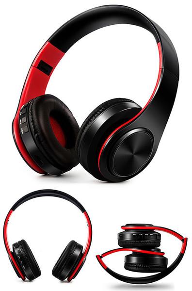 2019 latest hot multi-color folding wireless Bluetooth headset headset Bluetooth music sports plug cartoon wireless headset