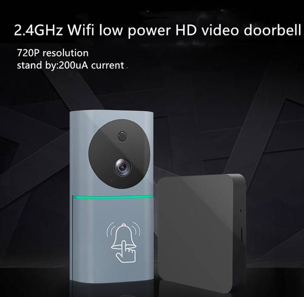 Akıllı Kablosuz Kapı Zili Video Kamera Ev Güvenlik Diyafon M9 WiFi Uzaktan Video Kapı Zili Telefon Interkom Çan desteği TF kart