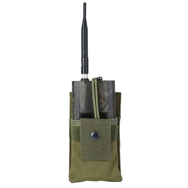 Tactical Radio Case Holder Holster Walkie Talkie Holster Adjustable Molle Pouch Open Top MagazineTactical Pouch