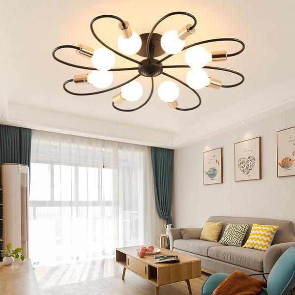 Grosshandel Nordic Design E27 Schwarz Weiss Led Decken Kronleuchter Licht Kronleuchter Lampe Fur Loft Kuche Wohnzimmer Schlafzimmer Flur Kinder Von