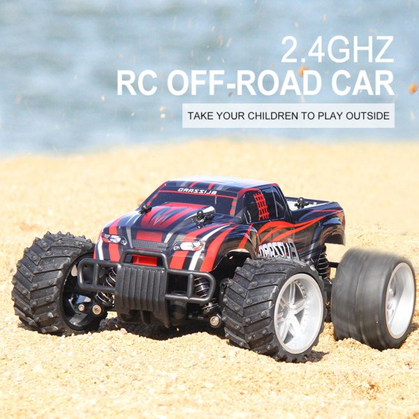 Remote Car 2.4ghz RC Driving Vehicle Toy Yellow Red Radio 4wd Electric 1:16 High Speed Cars Toys Off Road Gift For Child Ct025