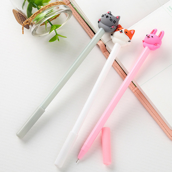 3pcs/set cute cat gel pen 0.5mm kawaii pens cat neutral pen for kids girls gift writing korean stationery school office supplies