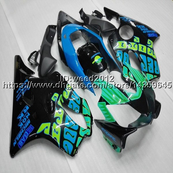 5Gifts+Custom Injection mold green repsol motorcycle panels for HONDA CBR 600F4i 2004 2005 2006 2007 ABS motorcycle Fairing hull