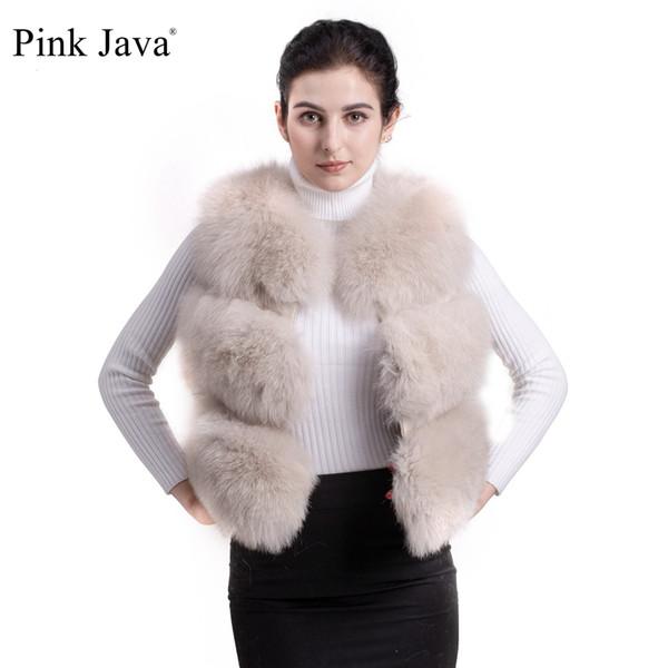 cd0d63d2ab3cc РОЗОВЫЙ ЯВА QC9437 высокого класса моды натурального меха лисы жилет одежды  БЕСПЛАТНАЯ ДОСТАВКА ПЕРВОГО ЛИЦА настоящий