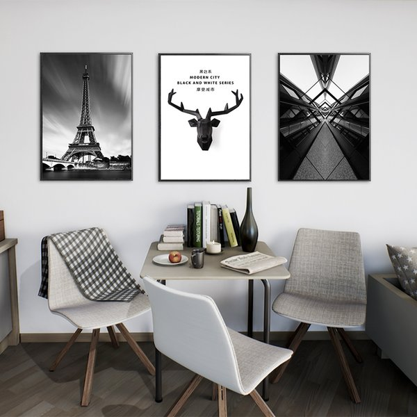 City Oil Painting Home Art Deco Mural No Frame Abstract Oil Painting Background Mural Canvas Living Room Sofa Office Wall Art Print