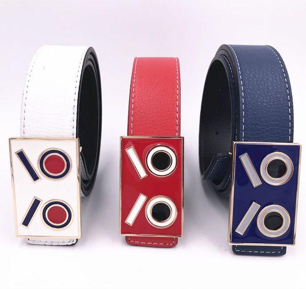 Brands Design Belts Unisex Jeans Leather Waist Straps Luxury Men Smooth Buckle Waistbands Hot Fashions Women Skirt Belt