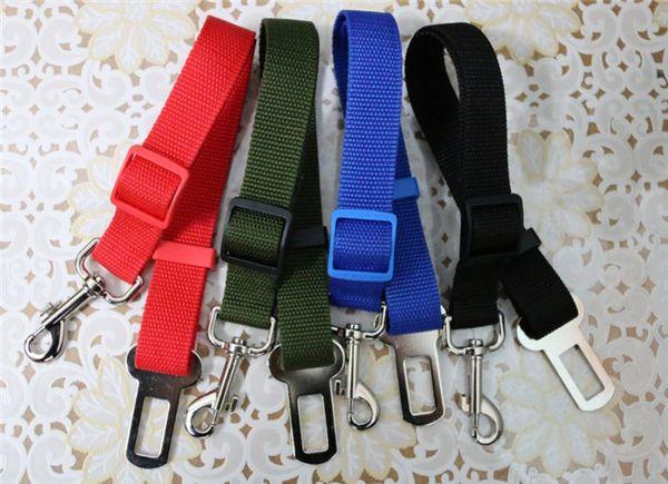 top popular High Quality Cat Dog Pet Safety Seatbelt for Car Vehicle Seat Belt Adjustable Harness Belt 17 Colors 400pcs 2020