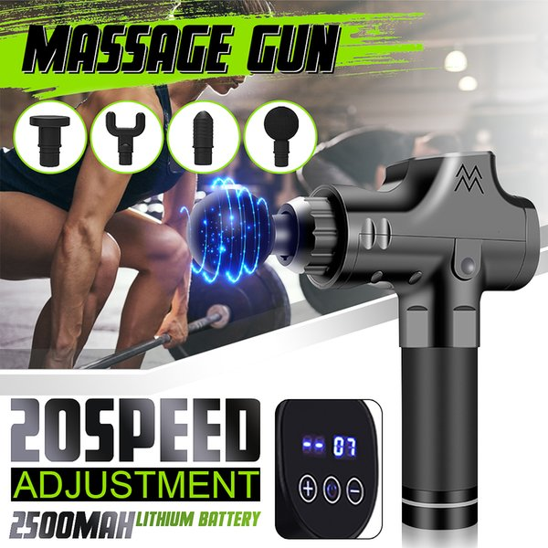 20file lcd electronic therapy mu cle ma age gun high frequency vibration ma age theragun body relaxation pain relief ma ager h190928