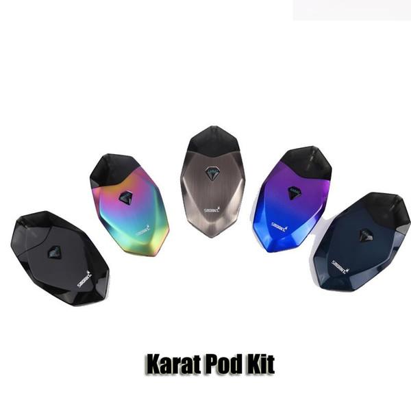 Original Smoant Karat Pod System Starter Kit Built-in 370mAh Battery 2ml Quartz Coil Pod Cartridge Diamond Cut Craft Vape Kit Authentic