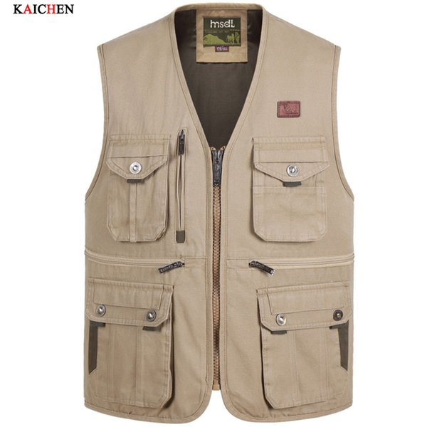 New Men's Photographer Vest Multi-Pockets Cheap Vests Shooting Waistcoat Vest Walking Travel Vest XL-4XL