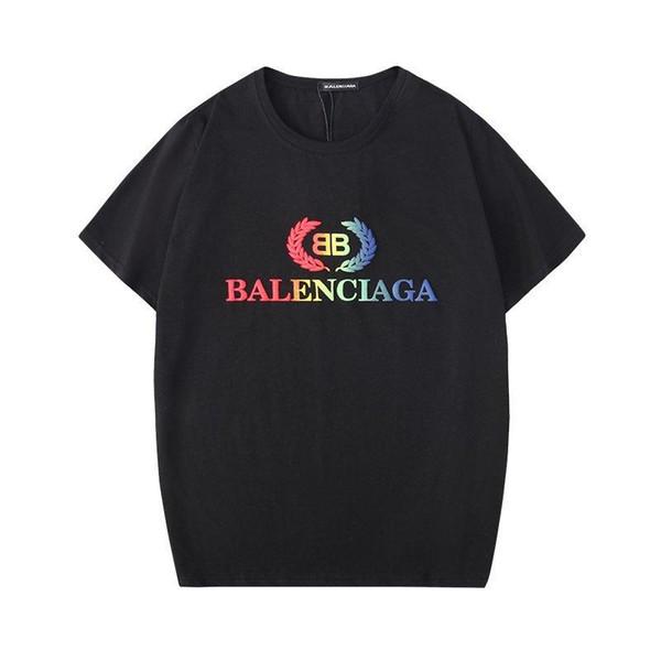 Été 19SS l'Europe Multicolor BB Lettre Hommes Imprimer T-shirt Mode Hommes Femmes T-shirt des hommes Vêtements de coton Hauts Tee homme SM662
