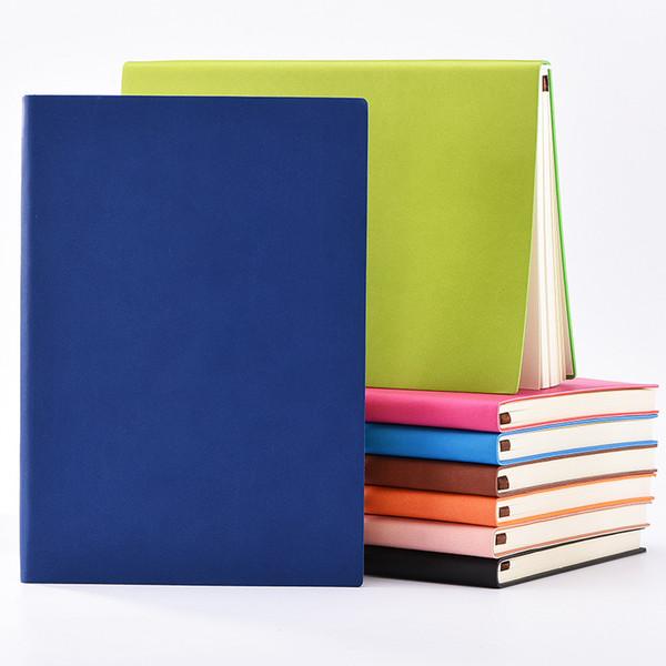 A5 / 88 fogli quaderno classico soft PU in pelle copertina rigida vintage business notepad note book scuola quaderni personalizzati logo personalizzato