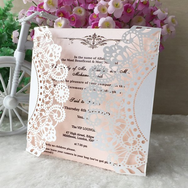 Delicate Sunflower Metal And Pearl Paper Without Ribbon Envelop Wedding Invitation Pocket Card Birthday Party Dinner Make Greeting Card Make Greeting