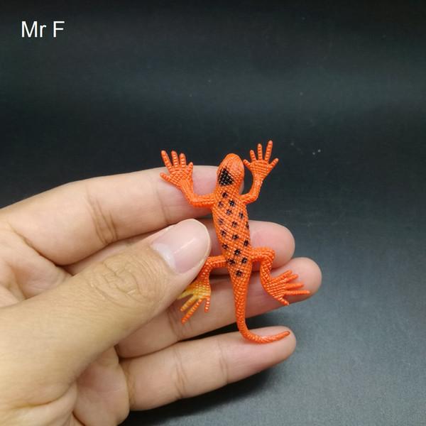 Kid Gift Orange Mini Lizard Insert Practical Jokes Gags Novelty Toys Science Model Game