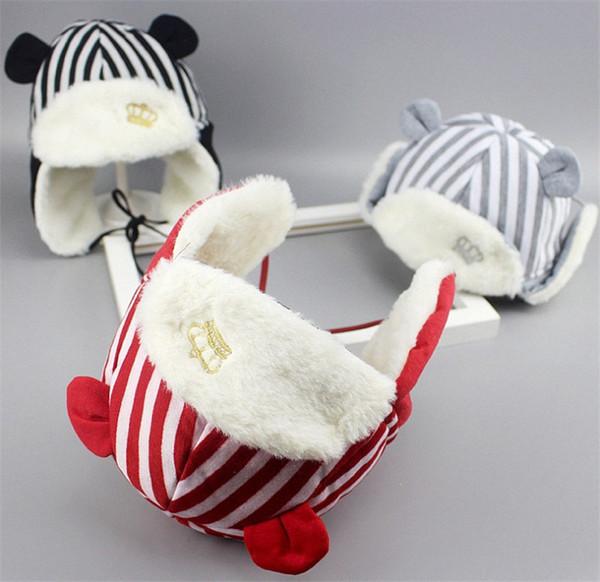 Otoño Invierno Infantil Bebé Tejido Trapper Sombrero Niños Ganchillo Diadema Cap Fiesta de cumpleaños de los niños Gorros Niños Niñas Sombreros de tejer