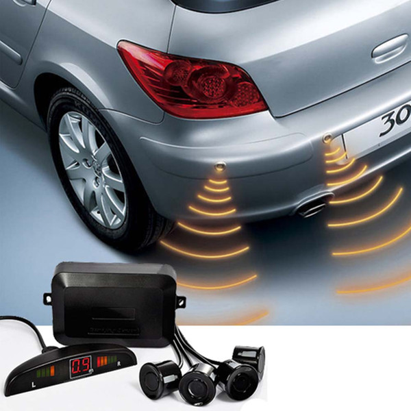 Car Parking Sensor with 4x Sensors Reverse Backup Radar Monitor Detector System Distance Alarm Car Sensor Kit