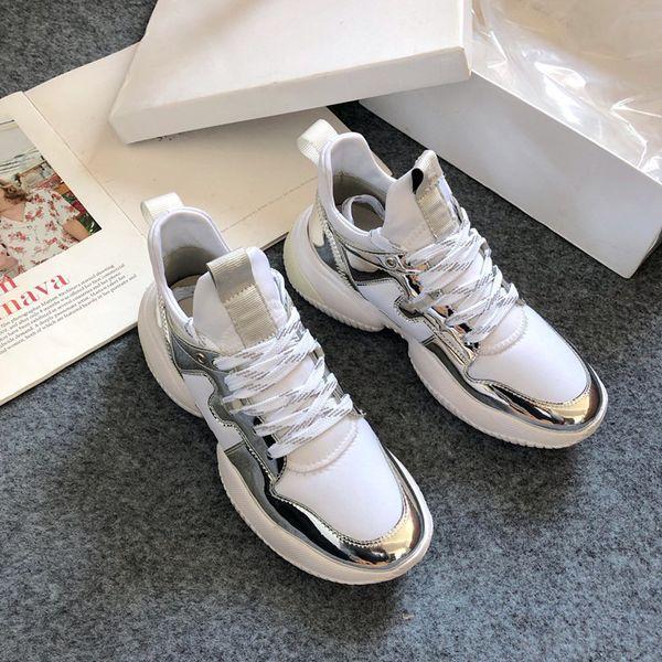 2020 frete grátis Luxury Designer Platform Formadores Sapatos casuais Homens Mulheres Moda Chaussure Sneakers sh19120304