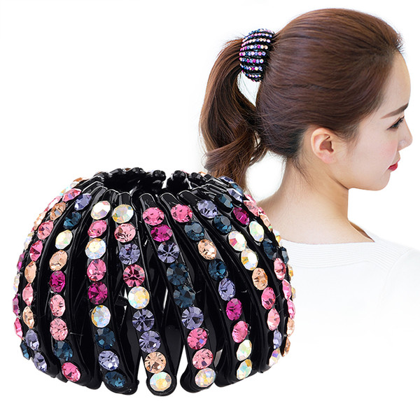 Bird Nest Plastic Hair Clip Pin Expanding Tail Hair Claws Bun Donut Holders for Women Girls Hair Accessories