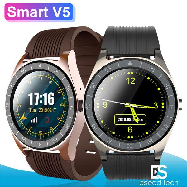 V5 Смарт Часы Bluetooth 3,0 Smartwatches Вставьте SIM-карты Аккумулятор камеры Синхронизация SMS Мобильный телефон Мужчины Часы для Android телефонов PK DZ09