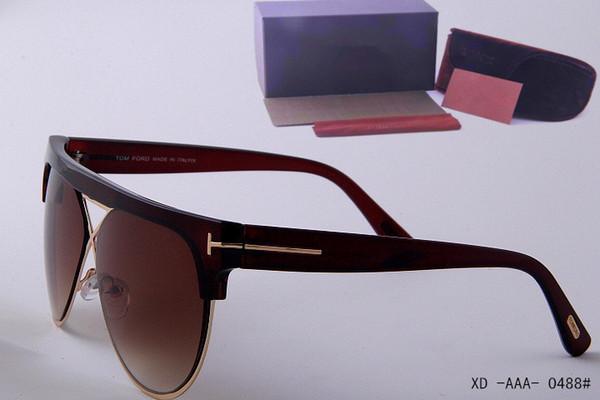 Hot 2019 neue Luxus Top Qualität neue Mode 0339 Tom Sonnenbrille für Mann Frau Erika Brillen Ford Designer Marke Sonnenbrille mit Box 0488